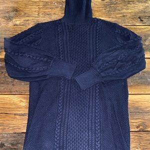 oversized turtleneck knitted sweater dress!